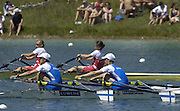 2005 FISA Rowing World Cup Munich,GERMANY. 19.06.2005; FIN LW2X Gold medal winners. stroke Minna Nieminen and Sanna Sten. Photo  Peter Spurrier. .email images@intersport-images.[Mandatory Credit Peter Spurrier/ Intersport Images] Rowing Course, Olympic Regatta Rowing Course, Munich, GERMANY