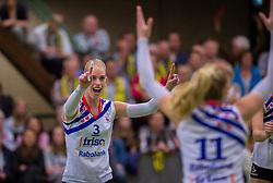 21-04-2016 NED: Springendal Set Up 65 - Vc Sneek, Ootmarsum<br /> Set Up verliest met 3-2 en staat met 2-0 achter in de finale serie best of five, Sneek kan aanstaande zondag kampioen van Nederland worden / Fenna Zeinstra #3