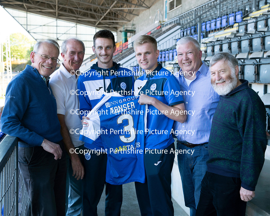 St Johnstone Players Sponsors Night…10.05.18<br />Scott Tanser and Ally McCann<br />Picture by Graeme Hart.<br />Copyright Perthshire Picture Agency<br />Tel: 01738 623350  Mobile: 07990 594431
