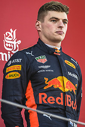May 13, 2018 - Barcelona, Catalonia, Spain - MAX VERSTAPPEN (NED), Red Bull Racing, looks on at the podium  after getting third at the Spanish GP at Circuit de Barcelona - Catalunya (Credit Image: © Matthias Oesterle via ZUMA Wire)