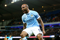 Fabian Delph of Manchester City screams in frustration after missing a chance - Mandatory byline: Matt McNulty/JMP - 01/12/2015 - Football - Etihad Stadium - Manchester, England - Manchester City v Hull City - Capital One Cup - Quarter-final