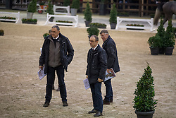 Jury, Stefan De Smet, Herman Bode, Herman Van den Broeck, Inge Meurrens<br /> BWP Hengsten keuring Koningshooikt 2015<br /> © Hippo Foto - Dirk Caremans<br /> 21/01/16