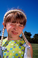 Young Girl with Pigtails, Model Released