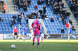 Alex Palmer of Plymouth Argyle stands dejected after conceding - Mandatory by-line: Arron Gent/JMP - 08/02/2020 - FOOTBALL - JobServe Community Stadium - Colchester, England - Colchester United v Plymouth Argyle - Sky Bet League Two
