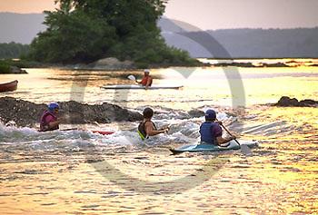 Kayaks, Susquehanna River, Dauphin Narrows, PA