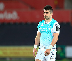 Connacht's Tiernan O'Halloran<br /> <br /> Photographer Simon King/Replay Images<br /> <br /> Guinness PRO14 Round 19 - Ospreys v Connacht - Friday 6th April 2018 - Liberty Stadium - Swansea<br /> <br /> World Copyright © Replay Images . All rights reserved. info@replayimages.co.uk - http://replayimages.co.uk