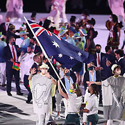 TOKYO, JAPAN - JULY 23: Australia enter the arena during the Opening Ceremony for the Tokyo 2020 Summer Olympic Games at the Olympic Stadium on July 23, 2021 in Tokyo, Japan. (Photo by Tim Clayton/Corbis via Getty Images)