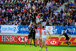 May 14, 2017 - Paris, France - SAM DICKINSON of New Zealand team during the match against France of HSBC World Rugby Sevens Series at Jean Bouin stadium of Paris France.New Zealand beat France 14-0 (Credit Image: © Pierre Stevenin via ZUMA Wire)