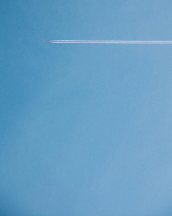 Jet-Stream against a blue sky