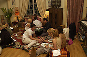 Maya Fiennes. Kyle MacLachlan Maya Fiennes dinner party. House of Cat de Rham and Jonathan Dwek. Ovington Sq. 29 June 2001. © Copyright Photograph by Dafydd Jones 66 Stockwell Park Rd. London SW9 0DA Tel 020 7733 0108 www.dafjones.com