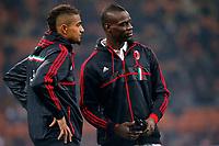 "Kevin Boateng Milan, Mario Balotelli Milan, Milano 15/2/2013 .Stadio ""S.Siro"".Football Calcio 2012/2013 Serie A.Milan Vs Parma.Foto Marco Bertorello Insidefoto"