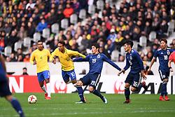 November 10, 2017 - Villeneuve D Ascq, France - 10 Neymar Jr (bra) - 19 Hiroki Sakai (jpn) - 16 Hotaru Yamaguchi (jpn) - FAUTE (Credit Image: © Panoramic via ZUMA Press)