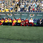 Galatasaray's players during their Turkish superleague soccer derby match Fenerbahce between Galatasaray at the Sukru Saracaoglu stadium in Istanbul Turkey on Sunday 12 May 2013. Photo by Aykut AKICI/TURKPIX