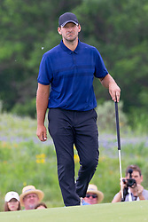 May 9, 2019 - Dallas, TX, U.S. - DALLAS, TX - MAY 09: Tony Romo walks onto the first green during the first round of the AT&T Byron Nelson on May 9, 2019 at Trinity Forest Golf Club in Dallas, TX. (Photo by Andrew Dieb/Icon Sportswire) (Credit Image: © Andrew Dieb/Icon SMI via ZUMA Press)