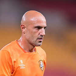BRISBANE, AUSTRALIA - OCTOBER 13: Massimo Maccarone of the Roar in action during the Round 2 Hyundai A-League match between Brisbane Roar and Adelaide United on October 13, 2017 in Brisbane, Australia. (Photo by Patrick Kearney)