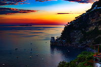 """Positano sunset view from Hotel Montemare""…<br />