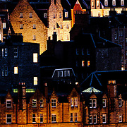 A telephoto glimpse of a small part of Edinburgh, Scotland from near the Nelson Monument.