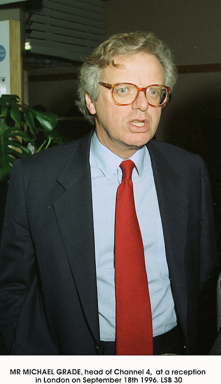 MR MICHAEL GRADE, head of Channel 4,  at a reception in London on September 18th 1996.LSB 30