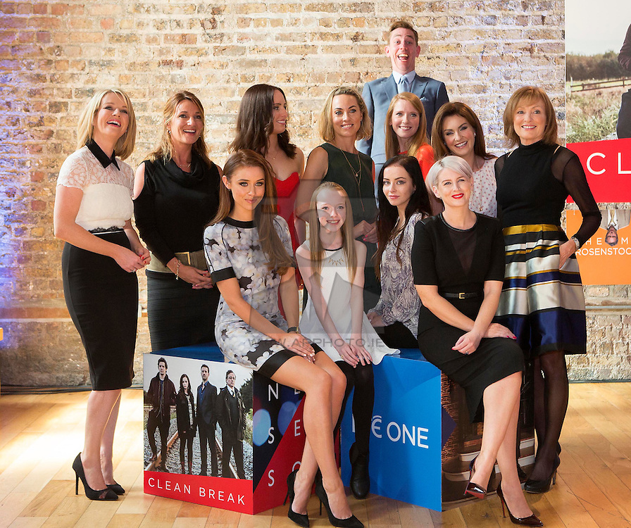 Repro Free: 13/08/2015<br /> Photobomber Ryan Tubridy is pictured with Claire Bryne, Aisling O'Neill, Aoibheann McCall, Kathryn Thomas, Sophie Robinson, Mairead Ronan, Mary Kennedy and from row Una Foden, Amybeth McNulty, Kelly Thornton and Sinead Kennedy  pictured at the launch of the RTÉ One's New Season programming in Smock Alley Theatre Dublin. Picture Andres Poveda