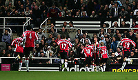 Photo: Andrew Unwin.<br /> Newcastle United v Sheffield United. The Barclays Premiership. 04/11/2006.<br /> Sheffield United celebrate their first goal.