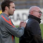 NLD/Katwijk/20110321 - Training Nederlandse Elftal Hongarije - NLD, Joris Mathijssen en Harry Vermeegen