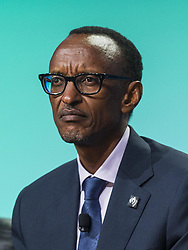 April 28, 2014 - Los Angeles, California, U.S - H.E. Paul Kagame, president of the Republic of Rwanda, in a panel ''Global Overview: Where Does Growth Come From?'' during the Milken Institute Global Conference on Monday, April 28, 2014 in Beverly Hills, California. (Credit Image: © Ringo Chiu/ZUMAPRESS.com)