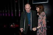 ALAN AYCKBOURN; KARA TOINTON, Absent Friends - press night  afterparty. Mint Leaf. Haymarket. London. Thursday 9 February 2012