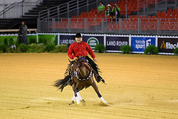 Piet Mestdagh, (BEL), RS Spat Mano War - Team Competition & 1st Individual Qualifying Reining - Alltech FEI World Equestrian Games™ 2014 - Normandy, France.<br /> © Hippo Foto Team - Dirk Caremans<br /> 25/06/14