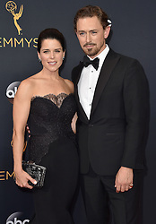 JJ Field, Neve Campbell attend the 68th Annual Primetime Emmy Awards at Microsoft Theater on September 18, 2016 in Los Angeles, CA, USA. Photo by Lionel Hahn/ABACAPRESS.COM