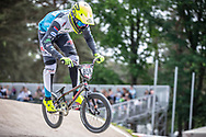 #858 (DIJK Robin) NED during practice at Round 5 of the 2018 UCI BMX Superscross World Cup in Zolder, Belgium