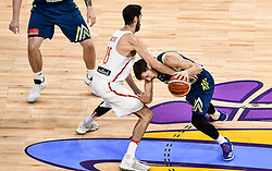 Joan Sastre of Spain vs Goran Dragic of Slovenia during basketball match between National Teams of Slovenia and Spain at Day 15 in Semifinal of the FIBA EuroBasket 2017 at Sinan Erdem Dome in Istanbul, Turkey on September 14, 2017. Photo by Vid Ponikvar / Sportida