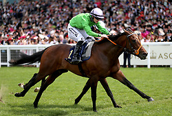 Arthur Kitt ridden by Jockey Richard Kingscote on their way to win the Chesham Stakes during day five of Royal Ascot at Ascot Racecourse.