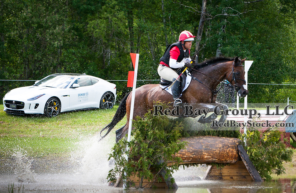 Buck Davidson (USA) and Captain Jack at the 2014 Jaguar Land Rover Bromont International Three Day Event in Bromont, Quebec.
