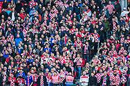 Croatia FC Supporters during the UEFA Nations League match between England and Croatia at Wembley Stadium, London, England on 18 November 2018.