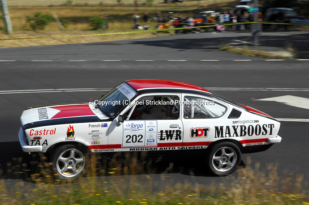 Adrian Morrisby & David French .1975 Holden Gemini .Day 2.Targa Wrest Point 2009.Southern Tasmania.1st of February 2009.(C) Joel Strickland Photographics.