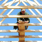 Gundalow Pavilion Roof Construction