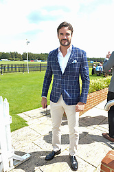 THOM EVANS at The Royal Salute Coronation Cup Polo held at Guards Polo Club,  Smiths Lawn, Windsor Great Park, Egham on 23rd July 2016.