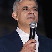 Speaker Sadiq Khan attends The Salesman, Trafalgar Square,London,UK. by See Li