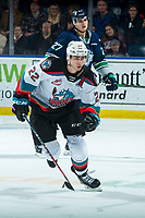 KELOWNA, BC - JANUARY 24: Dillon Hamaliuk #22 of the Kelowna Rockets skates against the Seattle Thunderbirds at Prospera Place on January 24, 2020 in Kelowna, Canada. Hamaliuk is a 2019 NHL entry draft pick of the San Jose Sharks.  (Photo by Marissa Baecker/Shoot the Breeze)