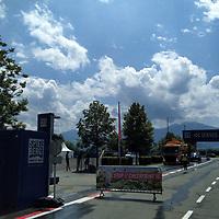 01.07.2020, Red Bull Ring , Spielberg, FORMULA 1 myWorld GROSSER PREIS VON ÖSTERREICH 2020, 03. - 05.07.2020 <br /> , im Bild<br />Eingang zur Rennstrecke, erster Checkpoint <br /> <br />   <br /> <br /> Foto © nordphoto / Bratic