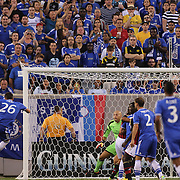 John Terry, Chelsea, misses a golden opportunity as he blasts wide during the Chelsea V AC Milan Guinness International Champions Cup tie at MetLife Stadium, East Rutherford, New Jersey, USA.  4th August 2013. Photo Tim Clayton
