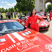 Alina Coughlan from Kazakhstan attend Cash & Rocket Photocall at Wellington Arch, on 6 June 2019, London, UK