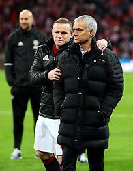 Manchester United manager Jose Mourinho and Wayne Rooney  - Mandatory by-line: Matt McNulty/JMP - 26/02/2017 - FOOTBALL - Wembley Stadium - London, England - Manchester United v Southampton - EFL Cup Final