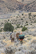 Young backcountry hunters head into the hills east of Dillon, Montana, in search of mule deer and elk.