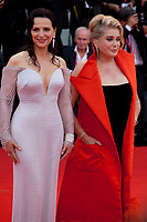 Actress Juliette Binoche and Catherine Deneuve at the Opening Ceremony and gala screening of the film The Truth (La Vérité) at the 76th Venice Film Festival, Sala Grande on Wednesday 28th August 2019, Venice Lido, Italy.