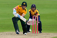 Tom Moores of Nottinghamshire during the Vitality T20 Blast North Group match between Nottinghamshire County Cricket Club and Yorkshire County Cricket Club at Trent Bridge, Nottingham, United Kingdon on 31 August 2020.