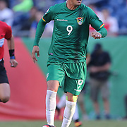FOXBOROUGH, MASSACHUSETTS - JUNE 10:  Yasmani Duk #9 of Bolivia in action during the Chile Vs Bolivia Group D match of the Copa America Centenario USA 2016 Tournament at Gillette Stadium on June 10, 2016 in Foxborough, Massachusetts. (Photo by Tim Clayton/Corbis via Getty Images)