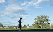 Augusta, New Jersey - A runner on the course in a 72-hour race during the 3 Days at the Fair races at Sussex County Fairgrounds on May 10, 2012.