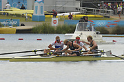 Eton Dorney, Windsor, Great Britain,<br /> <br /> 2012 London Olympic Regatta, Dorney Lake. Eton Rowing Centre, Berkshire.  Dorney Lake.   <br /> <br /> Final, Men's Pair GBR M2- Bow George NASH and Will SATCH and NZL M2-, Bow Eric MURRAY and Hamish BOND<br /> <br />  11:56:50  {DOW]  {DATE}    [Mandatory Credit: Peter Spurrier/Intersport Images]