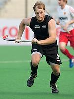 NEW DELHI - ? van Nieuw Zeeland tijdens de derde poulewedstrijd in de finaleronde van de Hockey World League tussen de mannen van Nieuw-Zeeland en Engeland.  ANP KOEN SUYK
